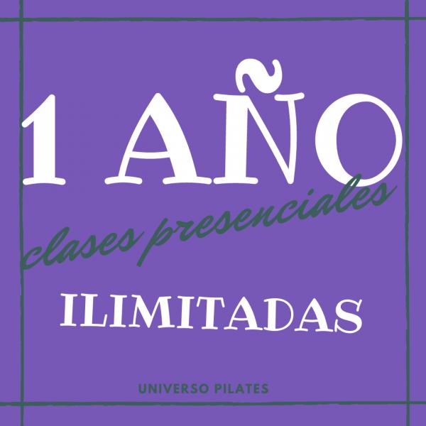 1 AÑO clases presenciales de pilates