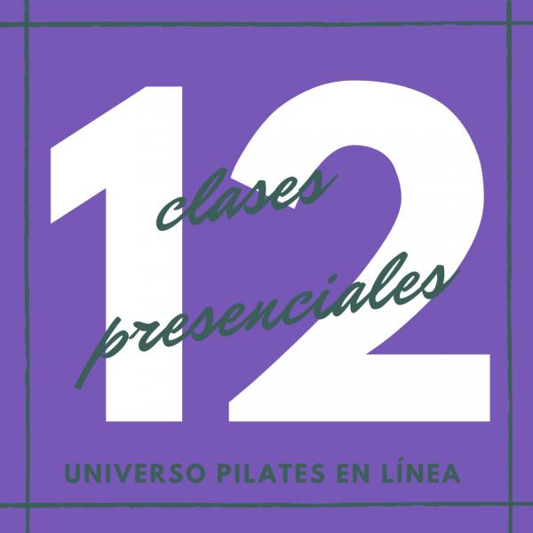 12 clases presenciales de pilates