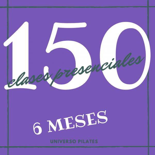150 clases presenciales de pilates