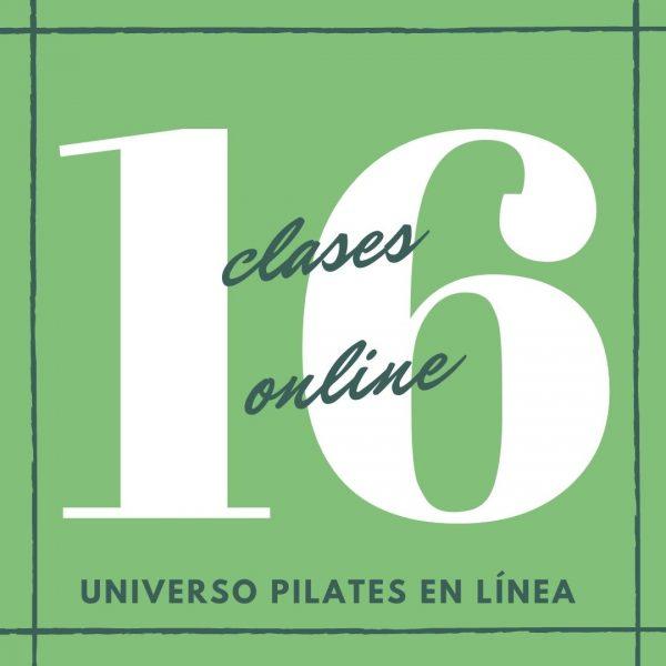 16 clases en línea de pilates piso