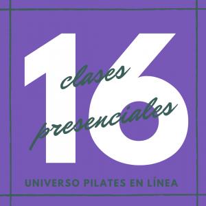 16 clases presenciales de pilates