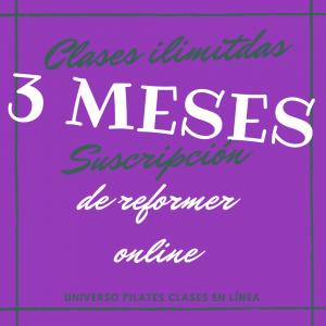 3 meses clases ilimitadas pilates reformer online