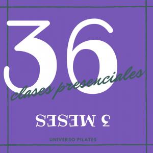 36 clases presenciales de pilates