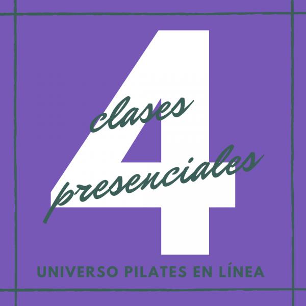 4 clases presenciales de pilates