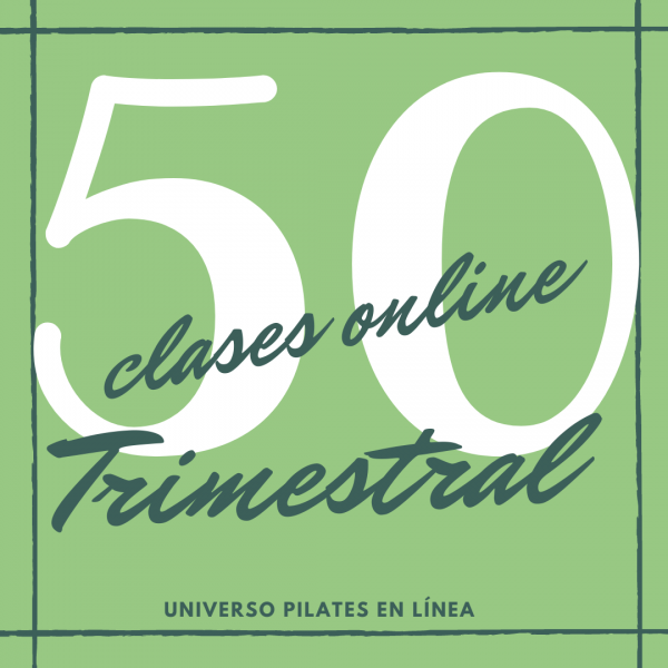 50 clases en línea de pilates en línea