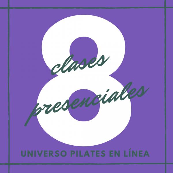 8 clases presenciales de pilates