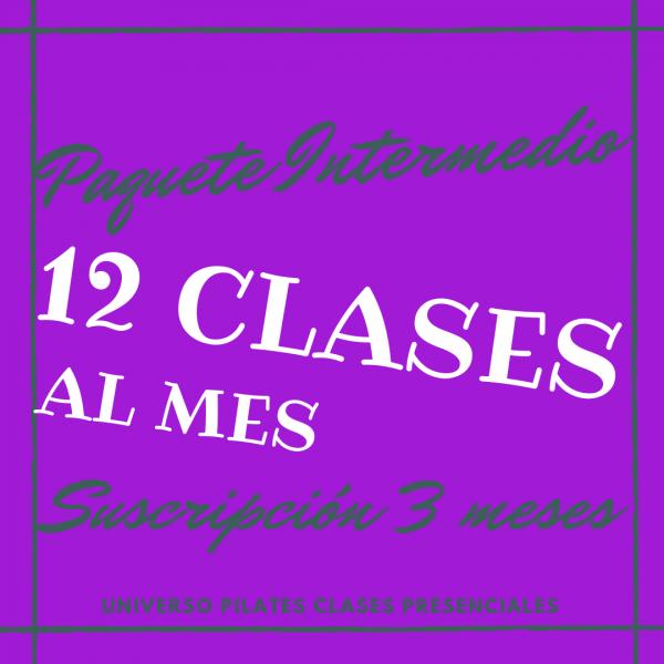 Suscripción 12 clases de pilates