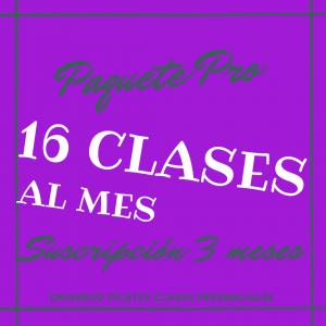 Suscripción 16 clases de pilates
