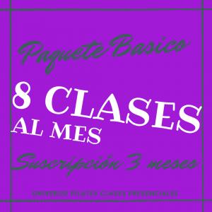 Suscripción 8 clases de pilates